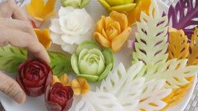 Fruits et légumes thaïlandais découpés frais de mélange illustration stock