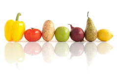 Fruits et légumes uniques Photographie stock libre de droits