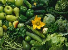 Fruits et légumes verts Images libres de droits