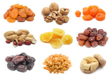 Fruits et noix secs Photo stock