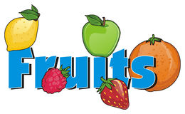Fruits et symboles Illustration Libre de Droits