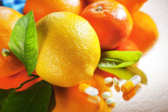 Fruits et vitamines Image stock