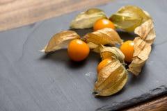 Fruits exotiques de Physalis Photographie stock