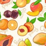 Fruits exotiques sans couture - 2 Illustration Libre de Droits