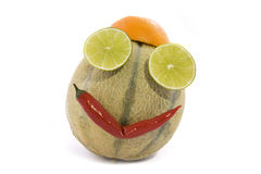 Fruits face stock image