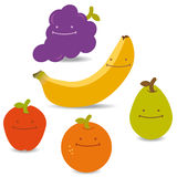 Fruits Faces Royalty Free Stock Photos