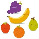 Fruits Faces Royalty Free Stock Photos