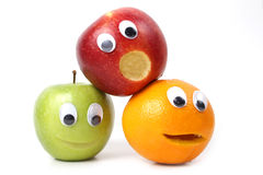 Fruits with faces Royalty Free Stock Image