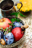 Fruits fall harvest Royalty Free Stock Photo