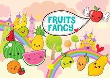 Fruits fancy Stock Images