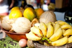 Fruits at farmers market Royalty Free Stock Photo