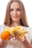 Fruits in female hands Stock Photo