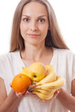 Fruits in female hands Stock Photography