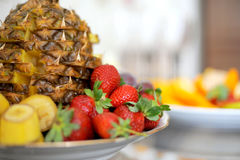 Fruits on Festive Table Stock Photography