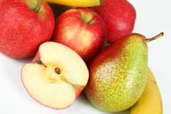 Fruits. A few apples with white background Stock Photo
