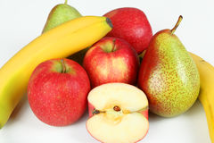 Fruits. A few fruits with white background Stock Image