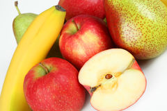 Fruits. A few fruits with white background Stock Photo