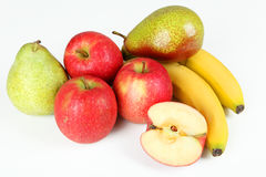 Fruits. A few fruits with white background Stock Photography
