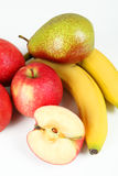 Fruits. A few fruits with white background Stock Photos