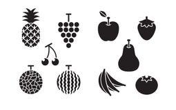 Fruits figés par graphismes Photos libres de droits