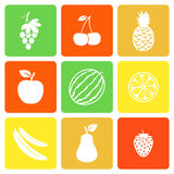 Fruits flat icons Stock Image