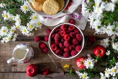 Fruits and Flower on Flowers Stock Photography