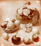 Fruits and flowers Royalty Free Stock Photos