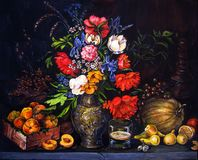 Fruits and flowers Royalty Free Stock Photography