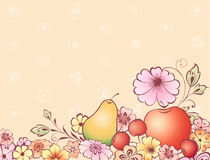 Fruits and flowers Royalty Free Stock Photo