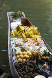 Fruits and food on boat Stock Photo