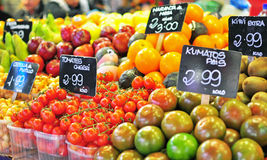 Fruits in the food market. Barcelona Royalty Free Stock Image