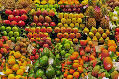 Fruits in the food market Stock Photos