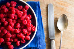 Fruits of the forest: raspberries Royalty Free Stock Image