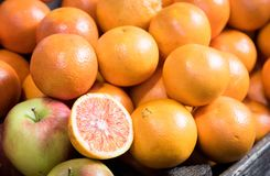 Fruits frais d'orange d'agrume image libre de droits