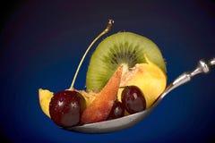 Fruits frais dans la cuillère Photo libre de droits