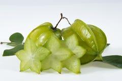 Fruits frais de carambolier Photo stock