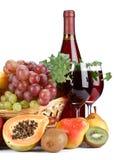 Fruits frais et vin photo libre de droits