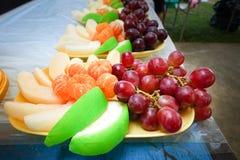 Fruits frais Fond mélangé de fruits Consommation saine, suivant un régime, Photo libre de droits