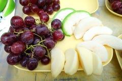 Fruits frais Fond mélangé de fruits Consommation saine, suivant un régime, Photos libres de droits