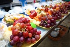 Fruits frais Fond mélangé de fruits Consommation saine, suivant un régime, Image libre de droits