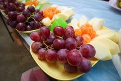 Fruits frais Fond mélangé de fruits Consommation saine, suivant un régime, Image stock