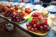 Fruits frais Fond mélangé de fruits Consommation saine, suivant un régime, Images libres de droits