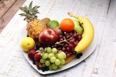 Fruits frais Fond mélangé de fruits Photo stock
