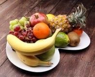 Fruits frais Fond mélangé de fruits Photographie stock libre de droits