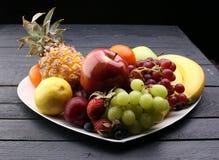 Fruits frais Fond mélangé de fruits Photo libre de droits
