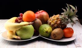 Fruits frais Fond mélangé de fruits Image stock