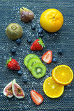 Fruits frais Fond mélangé de fruits Images stock