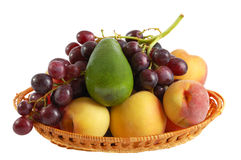 Fruits frais sur le fond blanc Photographie stock libre de droits
