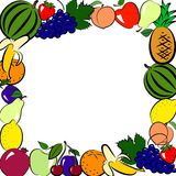 Fruits frame Royalty Free Stock Photos