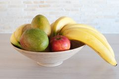 Fruits. The fresh fruits in a bowl royalty free stock photos